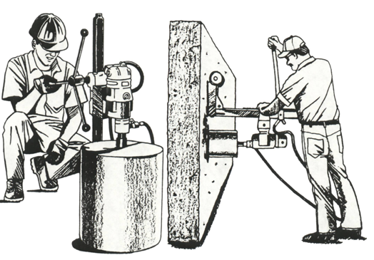 Διάτρηση δομικων υλικών με καροτιέρα