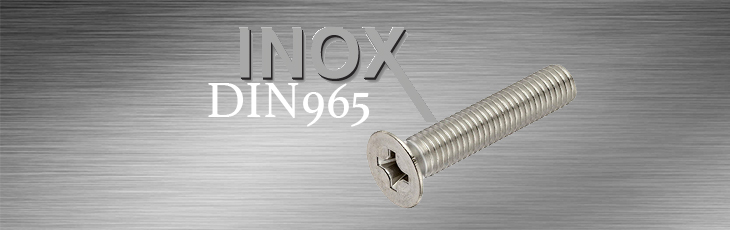 Μηχανόβιδες Inox Φρεζάτες Σταυρού DIN965