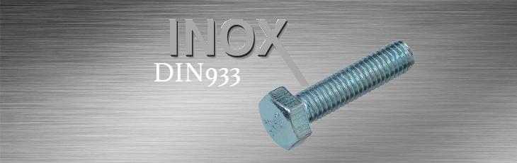 Βίδες Inox Εξάγωνες Ολόπασες DIN933