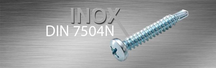 Inox Λαμαρινόβιδες Αυτοδιάτρητες τραπεζοειδής (ψωμάκι) σταυρού DIN 7504N
