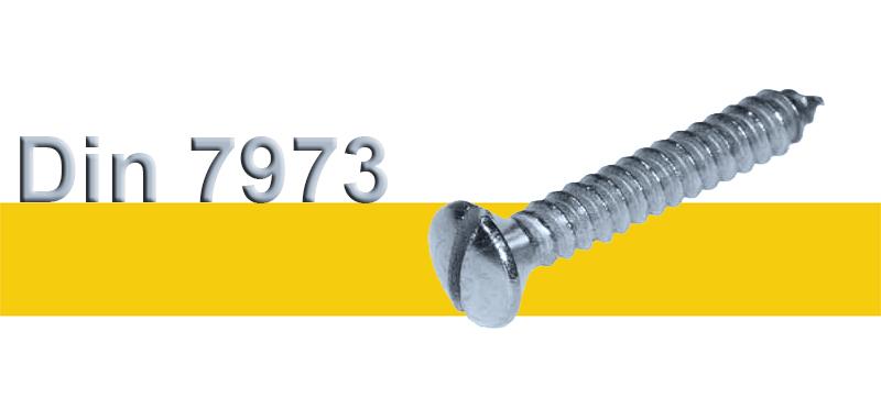 Ατσαλένιες Λαμαρινόβιδες Γαλβανιζέ Με Ίσιο Κεφάλι, Κεφαλή Φακοειδής DIN 7973