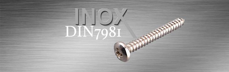 Inox Λαμαρινόβιδες Τραπεζοειδή (Ψωμάκι) DIN7981