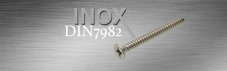 Inox Λαμαρινόβιδες Φρεζάτες Σταυρού DIN7982