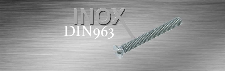 Μηχανόβιδες Inox Φρεζάτες Ισιο Κεφάλι DIN963