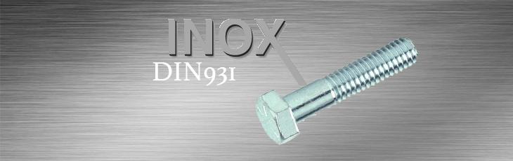 Βίδες Inox Εξάγωνες Με Κορμό DIN931