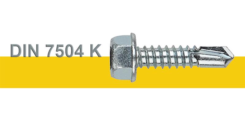 Αυτοδιάτρητες Ατσαλένιες Λαμαρινόβιδες Γαλβανιζέ Εξάγωνες DIN 7504K