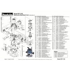 Ανάλυση εργαλείου MAKITA RP1110C