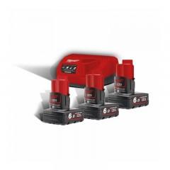 Milwaukee M12 NRG-603 κιτ φορτιστή με 3 μπαταρίες 6.0Ah 4933459208