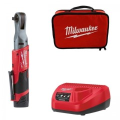 "Milwaukee M12 FIR14-201B καστάνια 1/4"" με 1 μπαταρία 2.0Ah"