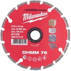 Milwaukee 4932471333 DHMM 76 Φ75 Δίαμαντόδισκος κοπής για το Μ12FCOT-0