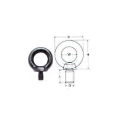 Ανοξείδωτη μάπα αρσενική με κοντό σπείρωμα DIN580 Inox A4