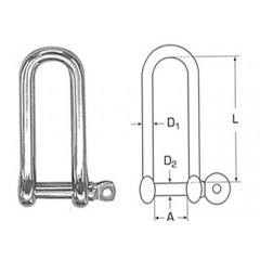 Ανοξείδωτο ναυτικό κλειδί μακρύ M 8259
