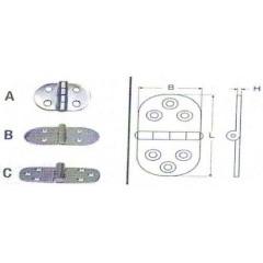 Ανοξείδωτοι μεντεσέδες οβάλ M8045 Inox A4