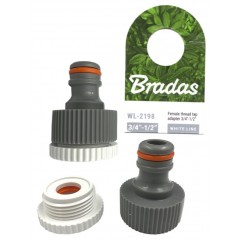 "Bradas WL2198 Adaptor 3/4"" . 1/2"" Ταχυσύνδεσμου λάστιχου"