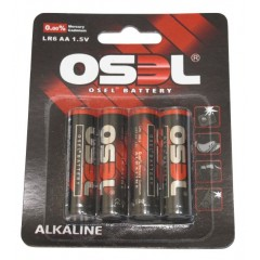 OSEL Αλκαλικές μπαταρίες LR6 AA τετράδα σε blister pack