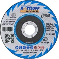 ROTTLUFF Progress A60Z-BF Δίσκος κοπής μετάλλων ίσιος ειδικά για inox