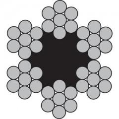 Συρματόσχοινο Γαλβανιζέ νημάτινης ψύχας 6Χ7+FC μέχρι 5 χιλιοστά και 6Χ19+FC πάνω απο 6 χιλιοστά