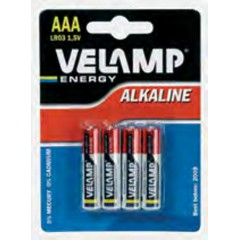 Velamp LR03 Αλκαλικές Μπαταρίες AAA