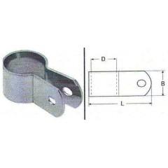 Ανοξείδωτο Ταφ σωλήνος πλακέ M8138 Inox A4
