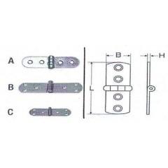 Ανοξείδωτοι μεντεσέδες μακρόστενοι M8046 Inox A4