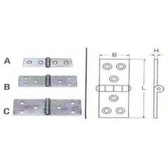 Ανοξείδωτοι μεντεσέδες μακρόστενοι M8047 Inox A4