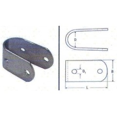 Ανοξείδωτοι Σφικτήρες σωλήνων M8135 Inox A4