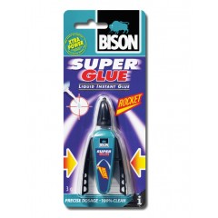 Bison Rocket Superglue 3gr Κυανοκρυλική κόλλα στιγμής με dispenser