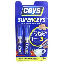 Ceys Superceys Κυανοκρυλική κόλλα στιγμής γενικής χρήσης 2Χ3γρ