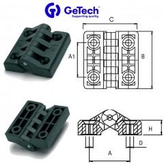 Getech CC Μεντεσέδες Νάιλον με ανοξείδωτο άξονα
