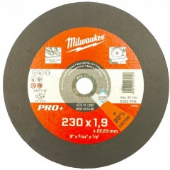 Milwaukee 4932451490 CD-PRO+ Φ230 Δίσκος κοπής Σιδήρου / Ανοξείδωτου
