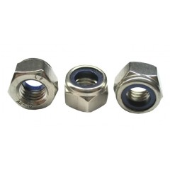 Περικόχλια Inox AISI 304, DIN 985 ασφαλείας ανοξείδωτα μετρικά