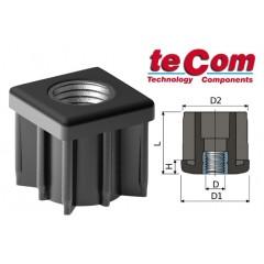 Tecom Τάπα τετράγωνη  με εσωτερικό περικόχλιο