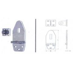 Ανοξείδωτος καταβάτης πλακέ M8052A Inox A4