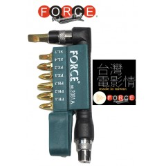 "FORCE 2081A Γωνιακός adaptor 1/4"" με μυτες και κλιπ ζώνης"
