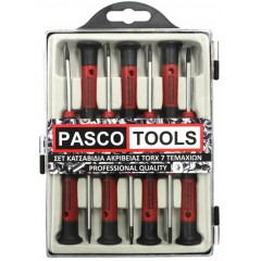 PASCO TOOLS Σετ κατσαβίδια Torx ακριβείας Ηλεκτρονικών T5-T15