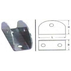 Βάση σωλήνος σκάλας M8134 Inox A4