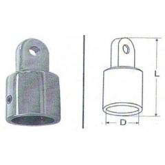 Ανοξείδωτο Ποτήρι βάσης για σωλήνα M8270 Inox A4