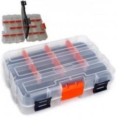 Tactix 320042 Πλαστική Ταμπακιέρα mini Διπλή