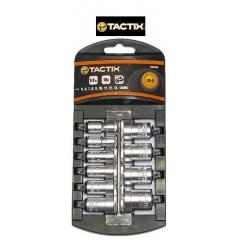 "TACTIX 365103 Σετ καρυδάκια 1/4"" 10 τεμαχίων σε πλαστική κασετίνα"
