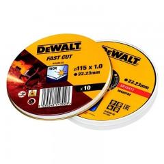 Dewalt DT3506-QZ-QΔίσκοι Κοπής Inox WA60TBF 1.0 x 115mm - 10 τεμ.