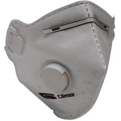 CLIMAX 1720 -C FFP2 NR N95 [Non Reusable- Μή Επαναχρησιμοποιούμενη] Μάσκα σωματιδίων ενεργού άνθρακα με βαλβίδα εκπνοής