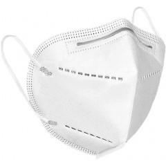 SNCM KN95 FFP2 NR [Non Reusable- Μή Επαναχρησιμοποιούμενη] Μάσκα σωματιδίων χωρίς βαλβίδα εκπνοής [2 τεμ - ανα δύο σε νάυλον συσκευασία] [τιμή ανα δύο]