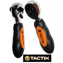 """TACTIX #90060 Double face ratchet 3/8"""" & 1/4"""" Διπλής όψεως καστάνια"""