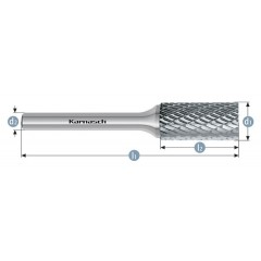 KARNASCH Φρεζάκια καρβιδίου κυλινδρικά HP-3 113001