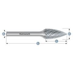 KARNASCH Φρεζάκια καρβιδίου κυλινδρικά HP-3 113061