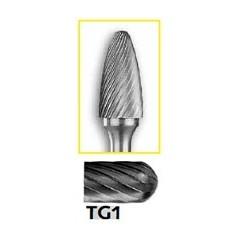 Φρεζάκια καρβιδίου δεντροειδή-οβάλ με αξονα 6 χιλ  για αλουμίνιο