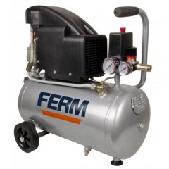 FERM CRM1045 Αεροσυμπιέστης με λίπανση 1.5 HP - 1100Watt - 24 λίτρα