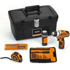 AEG BS 12 C2 + Kit  12V Compact LiIon Επαναφορτιζόμενο Δραπανοκατσάβιδο με δώρα