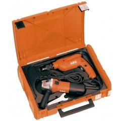 AEG SBE630RWS6-115 Σετ Δράπανο κρουστικό και τροχός Φ115 ενός χεριού σε μια βαλίτσα