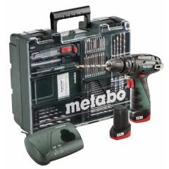 Metabo 10.8V PowerMaxx SB Basic Set [6.00385.87] Kρουστικό Δραπανοκατσάβιδο Μπαταρίας - Κινητό Συνεργείο